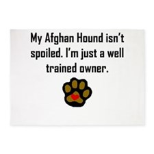 Well Trained Afghan Hound Owner 5'x7'Area Rug