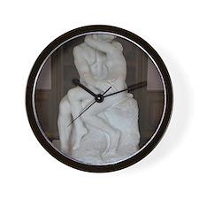 Rodin's The Kiss Wall Clock
