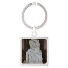 Rodin's The Kiss Square Keychain