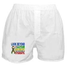 Look Beyond 2 Autism Students Boxer Shorts