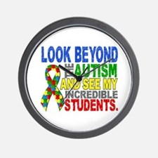 Look Beyond 2 Autism Students Wall Clock