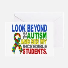 Look Beyond 2 Autism Students Greeting Card