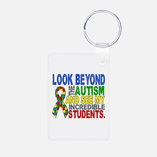 Look Beyond 2 Autism Stude Aluminum Photo Keychain