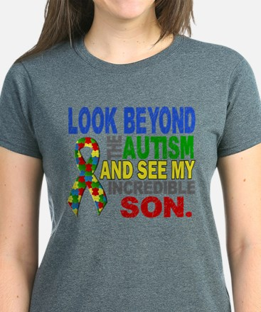 Look Beyond 2 Autism Son Women's Dark T-Shirt