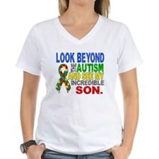 Look Beyond 2 Autism Son Shirt