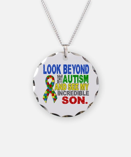 Look Beyond 2 Autism Son Necklace