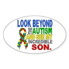 Look Beyond 2 Autism Son Bumper Stickers