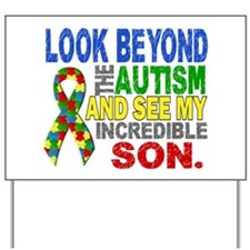 Look Beyond 2 Autism Son Yard Sign
