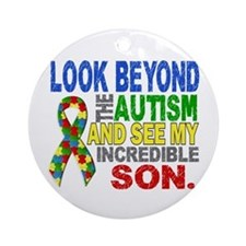 Look Beyond 2 Autism Son Ornament (Round)