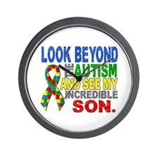 Look Beyond 2 Autism Son Wall Clock