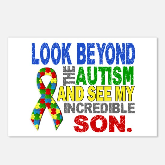 Look Beyond 2 Autism Son Postcards (Package of 8)