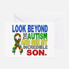 Look Beyond 2 Autism Son Greeting Card