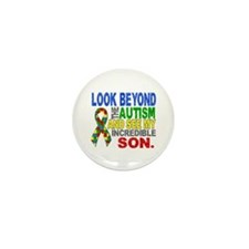 Look Beyond 2 Autism Son Mini Button (10 pack)