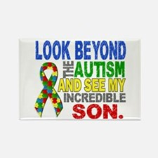 Look Beyond 2 Autism So Rectangle Magnet (10 pack)