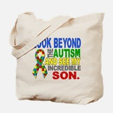 Look Beyond 2 Autism Son Tote Bag