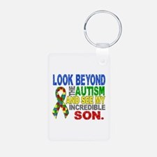 Look Beyond 2 Autism Son Aluminum Photo Keychain