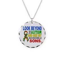 Look Beyond 2 Autism Sons Necklace
