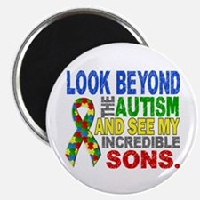 Look Beyond 2 Autism Sons Magnet