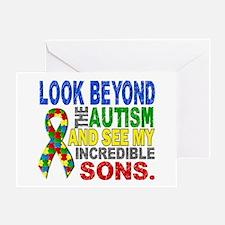Look Beyond 2 Autism Sons Greeting Card