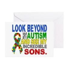 Look Beyond 2 Autism Son Greeting Cards (Pk of 20)