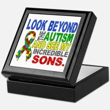 Look Beyond 2 Autism Sons Keepsake Box
