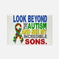 Look Beyond 2 Autism S Rectangle Magnet (100 pack)
