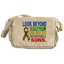 Look Beyond 2 Autism Sons Messenger Bag