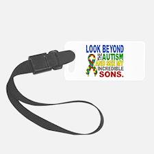 Look Beyond 2 Autism Sons Luggage Tag