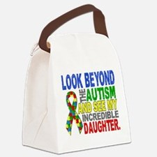 Look Beyond 2 Autism Daughter Canvas Lunch Bag