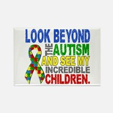 Look Beyond 2 Autism Ch Rectangle Magnet (10 pack)