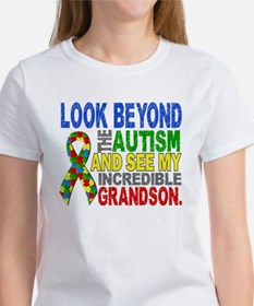 Look Beyond 2 Autism Grandson Women's T-Shirt
