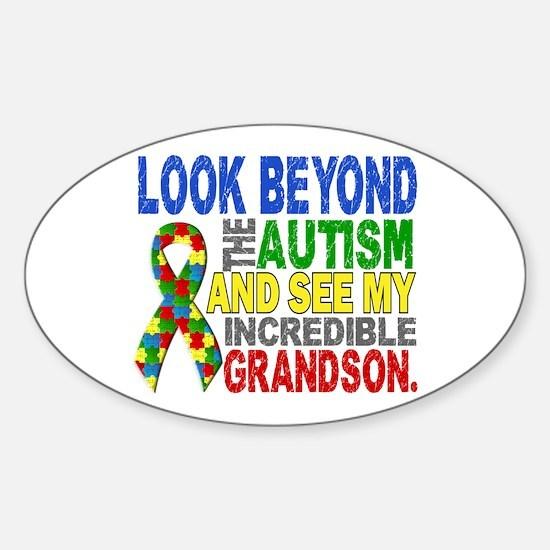 Look Beyond 2 Autism Grandson Sticker (Oval)