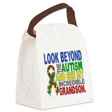 Look Beyond 2 Autism Grandson Canvas Lunch Bag