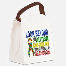 Look Beyond 2 Autism Grandson Canvas Lunch Bag