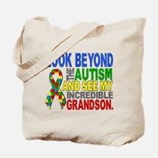 Look Beyond 2 Autism Grandson Tote Bag