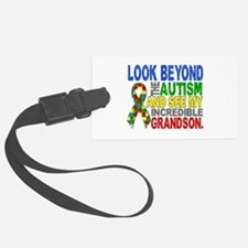 Look Beyond 2 Autism Grandson Luggage Tag