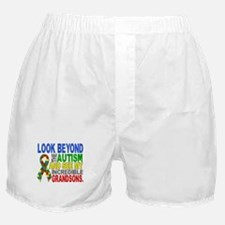 Look Beyond 2 Autism Grandsons Boxer Shorts