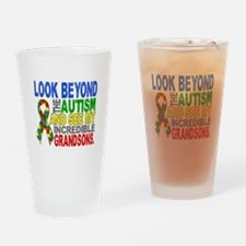 Look Beyond 2 Autism Grandsons Drinking Glass