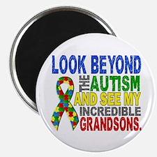 Look Beyond 2 Autism Grandsons Magnet