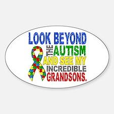 Look Beyond 2 Autism Grandsons Decal