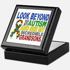 Look Beyond 2 Autism Grandsons Keepsake Box