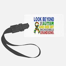 Look Beyond 2 Autism Grandsons Luggage Tag