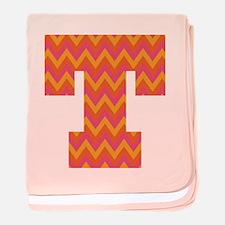 T Monogram Chevron baby blanket