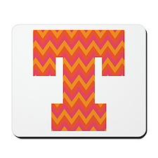 T Monogram Chevron Mousepad