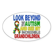 Look Beyond 2 Autism Grandchildren Bumper Stickers