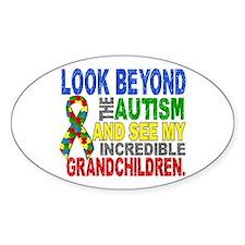 Look Beyond 2 Autism Grandchildren Decal