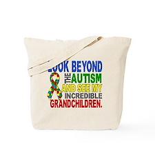 Look Beyond 2 Autism Grandchildren Tote Bag