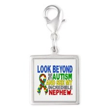 Look Beyond 2 Autism Nephew Silver Square Charm