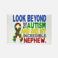 Look Beyond 2 Autism Nephew Rectangle Magnet