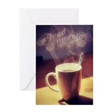 GOOD MORNING, COFFEE Greeting Cards